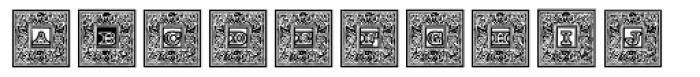 Engel Frame Outline Font UPPERCASE