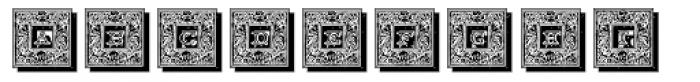 Engel Frame Shadow Font LOWERCASE
