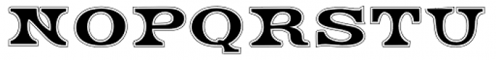 Engel Lined Font UPPERCASE