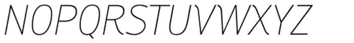 Engel New Sans Extra Light Italic Font UPPERCASE