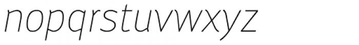Engel New Sans Extra Light Italic Font LOWERCASE