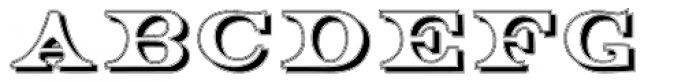 Engel Shadow Font UPPERCASE