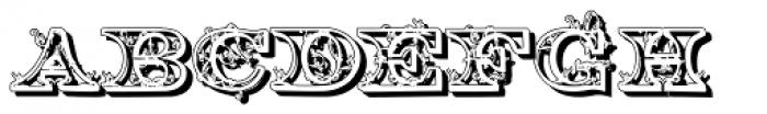Engel2 Shadow Font UPPERCASE