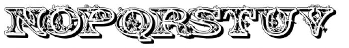 Engel2 Shadow Font LOWERCASE