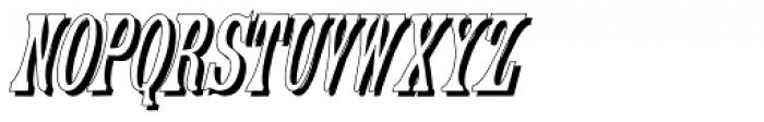 Engel3 Shadow Font LOWERCASE