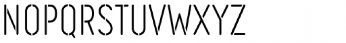 Engineer Stencil Light Font UPPERCASE