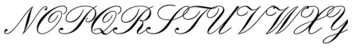 Englische Schoolbook Joined Font UPPERCASE