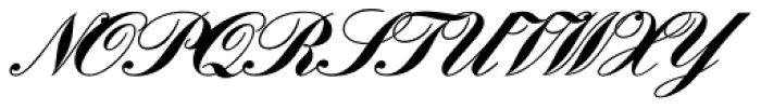 Englische Schreibschrift BQ One Bold Font UPPERCASE