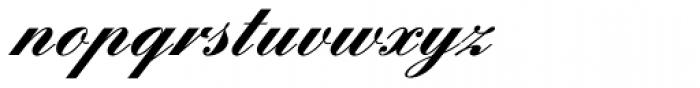 Englische Schreibschrift BQ One Bold Font LOWERCASE