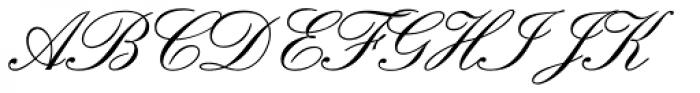 Englische Schreibschrift BQ One Font UPPERCASE