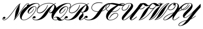 Englische Schreibschrift BQ Two Bold Font UPPERCASE