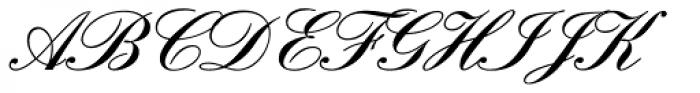 Englische Schreibschrift BQ Two Medium Font UPPERCASE