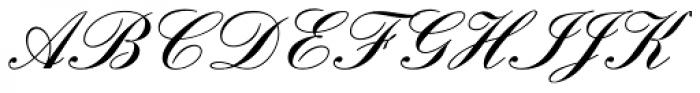 Englische Schreibschrift Demi Bold Font UPPERCASE