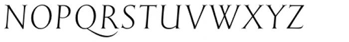 English Engravers Roman Light Italic Font UPPERCASE