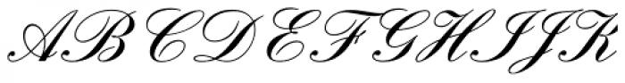 English Script DemiBold Font UPPERCASE