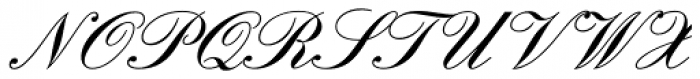 English Script Pro Demi Font UPPERCASE
