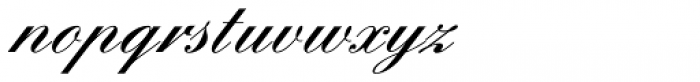 English Script Pro Demi Font LOWERCASE