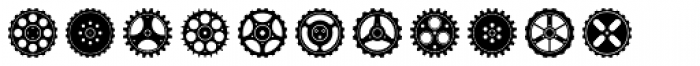 Engranajes Font LOWERCASE