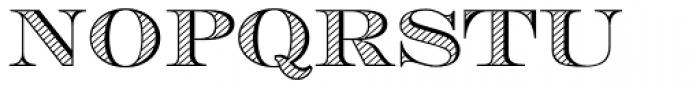 Engravers DT Alternate Shaded Font UPPERCASE