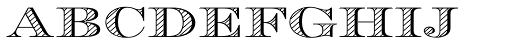 Engravers DT Alternate Shaded Font LOWERCASE