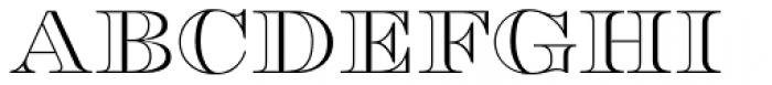 Engravers DT Profile Font UPPERCASE