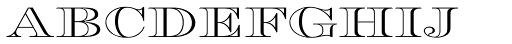 Engravers DT Profile Font LOWERCASE