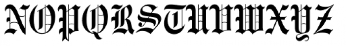 Engravers Old English BT Font UPPERCASE