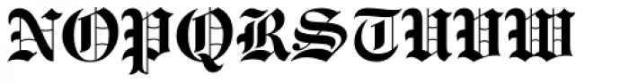 Engravers Old English Bold Font UPPERCASE