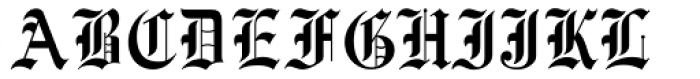 Engravers Old English MT Font UPPERCASE