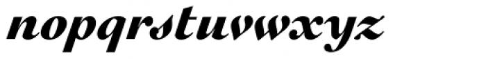 Engravers Oldstyle 205 Black Italic Font LOWERCASE