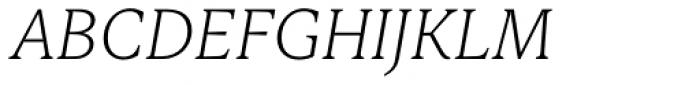 Ennore Light Italic Font UPPERCASE