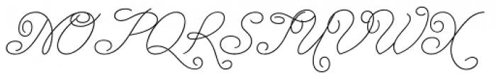 Enocenta Hairline Font UPPERCASE