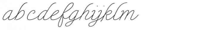 Enocenta Hairline Font LOWERCASE