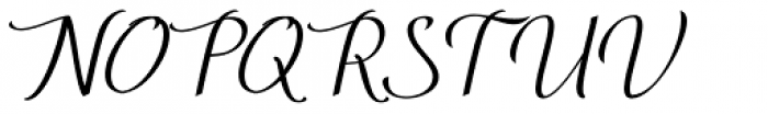 Enthrall Regular Font UPPERCASE
