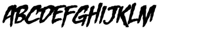 Entrails BB Italic Font UPPERCASE