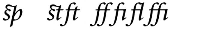 Envoy Expert Italic Font LOWERCASE