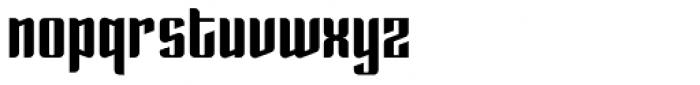 Enza Black Font LOWERCASE