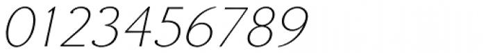 Enzia Thin Italic Font OTHER CHARS