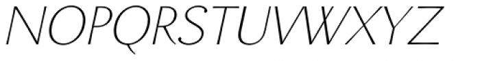 Enzia Thin Italic Font UPPERCASE