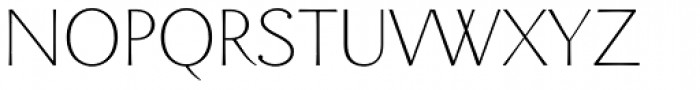 Enzia Thin Font UPPERCASE