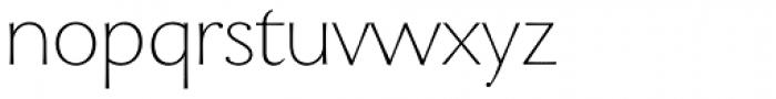 Enzia Thin Font LOWERCASE