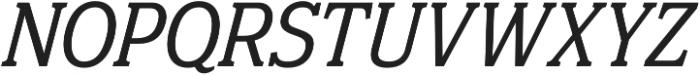 Eponymous Italic otf (400) Font UPPERCASE
