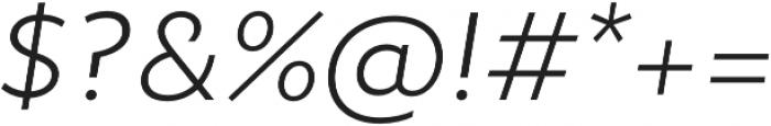 Epura Light Italic otf (300) Font OTHER CHARS