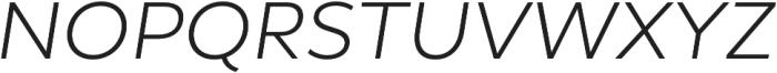 Epura Light Italic otf (300) Font UPPERCASE