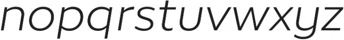 Epura Light Italic otf (300) Font LOWERCASE