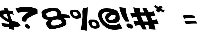 Ephesian Leftalic Font OTHER CHARS