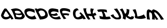 Ephesian Leftalic Font UPPERCASE