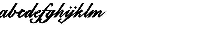 Epaulet Bold Font LOWERCASE