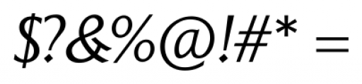Epigraph Italic Font OTHER CHARS