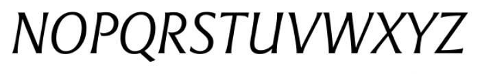 Epigraph Italic Font UPPERCASE